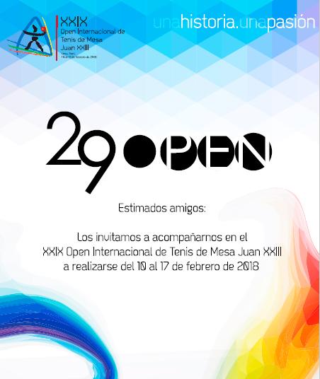 Open Internacional Juan XXIX- Lima, Perú